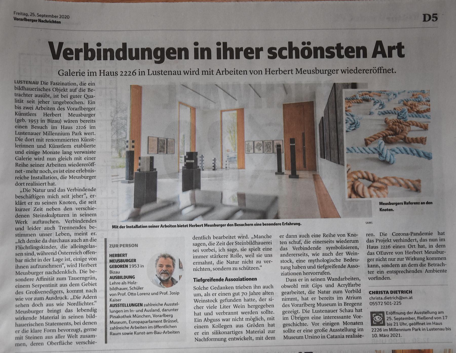 Vorarlberger Nachrichten, 25.9.2020, Seite D5