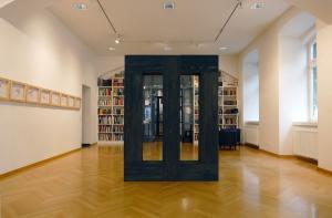 Herbert Meusburger: O.T., 5-teilige Holzskulptur, bemalt. 2019 (© Dieter Resel, Agentur Zeitpunkt)