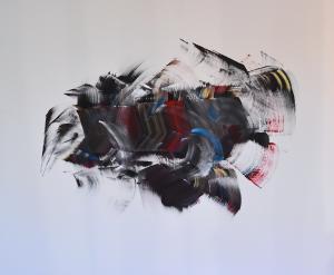 Herbert Meusburger: Ohne Titel, Acryl auf Leinwand, 2021 (Foto: Kapi)
