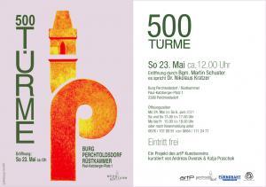 Einladungskarte '500 Türme'