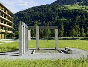 Illwerke Zentrum Vandans, Wasserskulptur, Granit, 2013