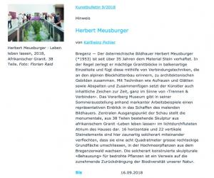 Kunstbulletin 9/2018